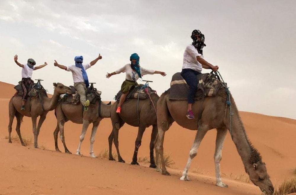 luxury camel trekking Morocco