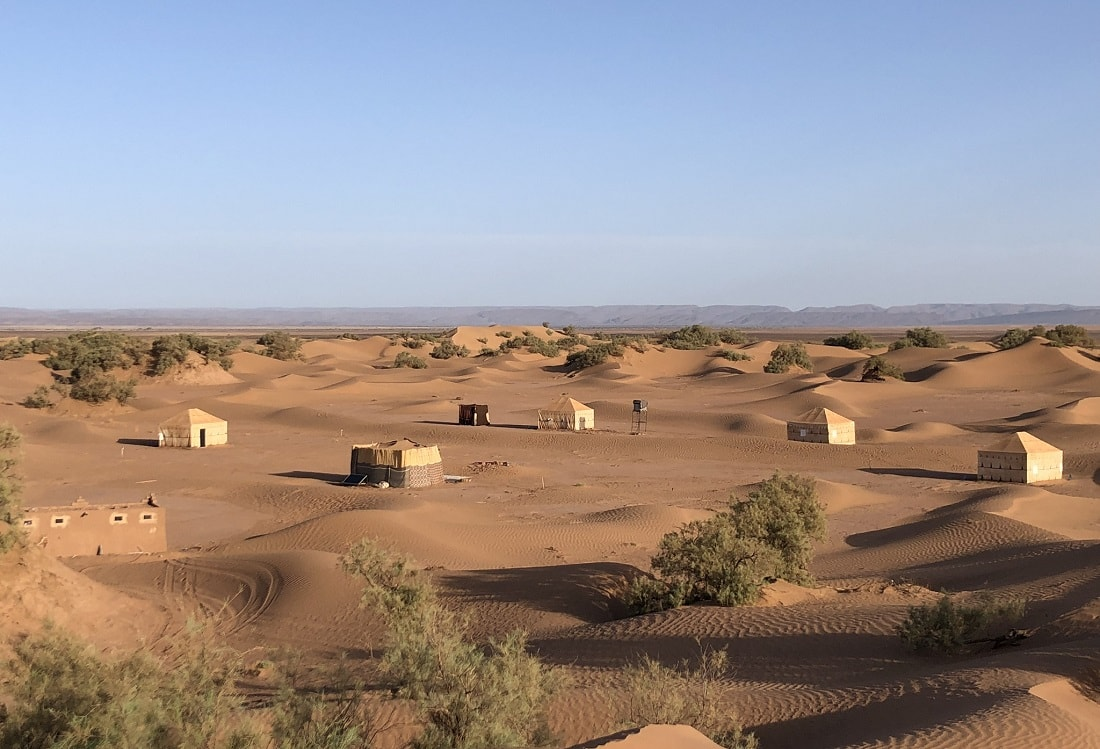 Desert camp M'hamid Sahara Morocco